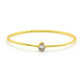 Clear Quartz Crystal Bangle in Gold Plated Brass