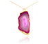 GRAND GEODE PENDANT PINK IN 925 STERLING SILVER - Taula Pte Ltd