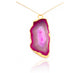 GRAND GEODE PENDANT PINK IN 925 STERLING SILVER