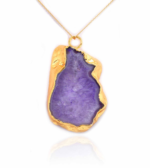 GRAND GEODE PENDANT PURPLE IN 925 STERLING SILVER - Taula Pte Ltd