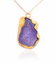 GRAND GEODE PENDANT PURPLE IN 925 STERLING SILVER