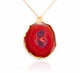GRAND GEODE PENDANT RED IN 925 STERLING SILVER