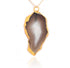 GRAND GEODE PENDANT (GREY) IN 925 STERLING SILVER & GOLD PLATING - Taula Pte Ltd