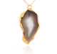 GRAND GEODE PENDANT (GREY) IN 925 STERLING SILVER & GOLD PLATING