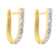 Yellow Gold & Diamond earrings in 18K Gold