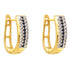 Black & White Diamond Earrings in 18K Yellow Gold - Taula Pte Ltd