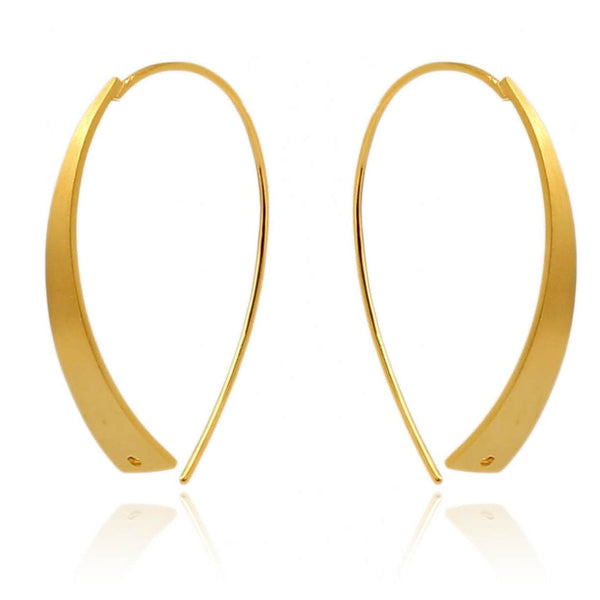 HOOP-U EARRINGS IN 925 STERLING SILVER & 18K YELLOW GOLD PLATING