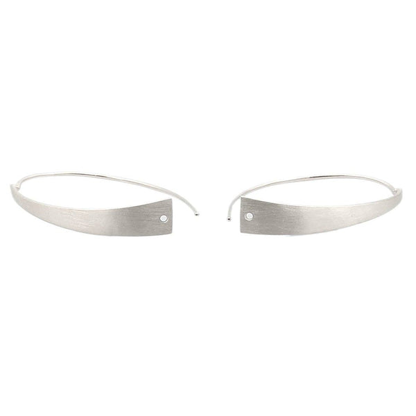 HOOP-U EARRINGS IN 925 STERLING SILVER (WITH RHODIUM PLATING) - Taula Pte Ltd
