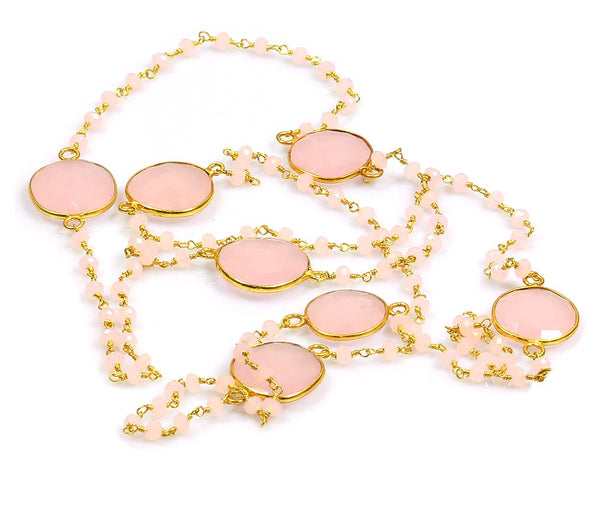 ROSE QUARTZ BEADS NECKLACE - Taula Pte Ltd