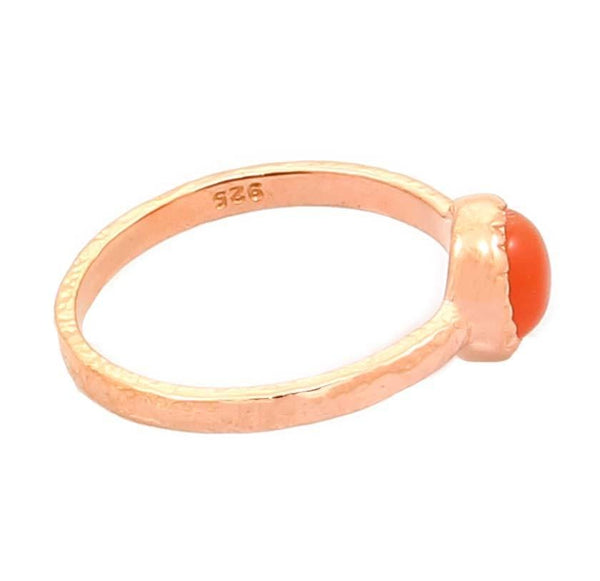 MOONSTONE PEACH IN 18K ROSE GOLD PLATED 925 STERLING SILVER - Taula Pte Ltd