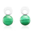 MALACHITE GREEN EARRINGS IN 925 STERLING SILVER