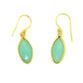 CHALCEDONY EARRINGS IN GOLD PLATED BRASS