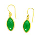 GREEN ONYX EARRINGS IN GOLD PLATED BRASS