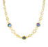 LABRADORITE PREHINITE MOONSTONE NECKLACE IN 925 STERLING SILVER & 18K GOLD PLATING - Taula Pte Ltd