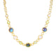 LABRADORITE PREHINITE MOONSTONE NECKLACE IN 925 STERLING SILVER & 18K GOLD PLATING