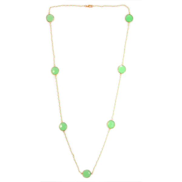 CHALCEDONY BEADS NECKLACE - Taula Pte Ltd
