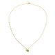 Aventurine Moonstone Labradorite Necklace in 925 Sterling Silver & Gold Plating