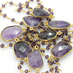 AMETHYST BEADS NECKLACE - Taula Pte Ltd