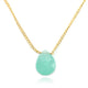 CHALCEDONY NECKLACE IN GOLD PLATED BRASS