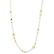 ITALIAN LONG NECKLACE IN 925 STERLING SILVER & 18K YELLOW GOLD PLATING