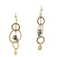 Jade Bird Earrings in 925 Sterling Silver & 18K Gold Plating