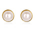 ROUND PEARL & YELLOW GOLD EARRINGS - Taula Pte Ltd