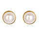 ROUND PEARL & YELLOW GOLD EARRINGS