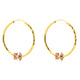 GOLD HOOP EARRINGS IN 18K YELLOW & ROSE/PINK GOLD