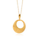 EXQUISITE CRESCENT GOLD PENDANT IN 18K YELLOW GOLD