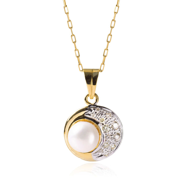 PRECIOUS PEARL AND DIAMONDS PENDANT - Taula Pte Ltd