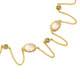 "36"" ROSE QUARTZ NECKLACE IN YELLOW GOLD PLATED 925 STERLING SILVER"