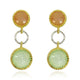 PREHINITE MOONSTONE PEACH EARRINGS