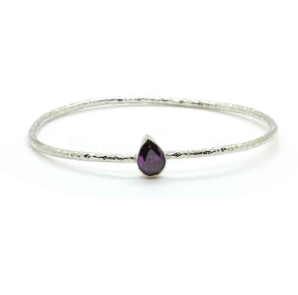 Brass Amethyst Bangle