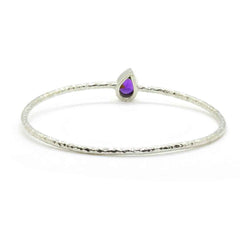 Brass Amethyst Bangle - Taula Pte Ltd