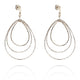 TRIO DROP EARRINGS IN 925 STERLING SILVER & 18K GOLD PLATING