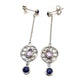 AMETHYST BRAZILIAN EARRINGS IN 925 STERLING SILVER