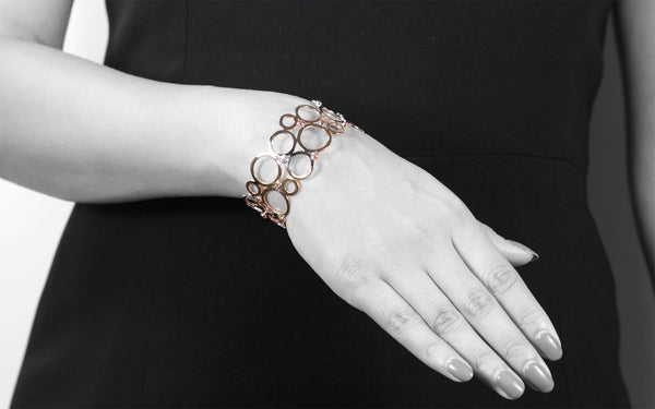 ELE-MENTAL CUFF IN 925 STERLING SILVER & 18K GOLD PLATING - Taula Pte Ltd