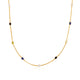 "MOONSTONE ONYX CITRINE SAPPHIRE NECKLACE IN 18K SOLID GOLD (34"")"