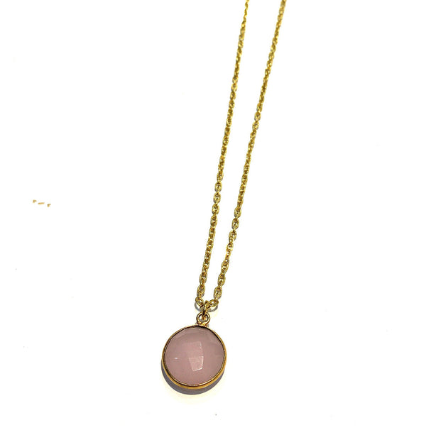 ROSE QUARTZ PENDANT - Taula Pte Ltd