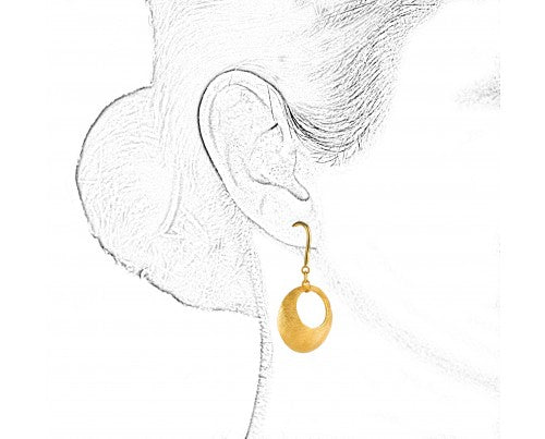 GOLD CRESCENT EARRINGS IN 18K YELLOW GOLD - Taula Pte Ltd