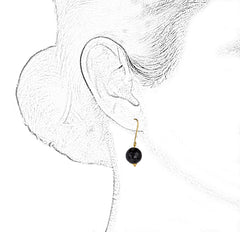 DISCO BALL 18K GOLD EARRINGS - BLACK - Taula Pte Ltd