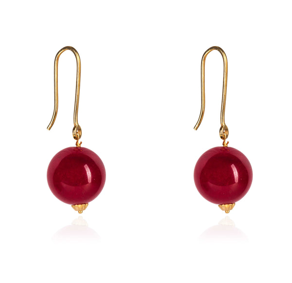CHERRY GOLD EARRINGS IN 18K YELLOW GOLD
