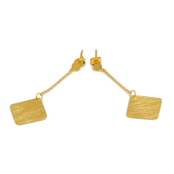 RHO EARRINGS IN 925 SILVER & 18K YELLOW GOLD PLATING - Taula Pte Ltd