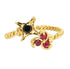 RUBIES & BLACK DIAMOND RING - Taula Pte Ltd