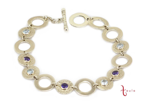GEM LOOP BRACELET IN 925 STERLING SILVER - Taula Pte Ltd