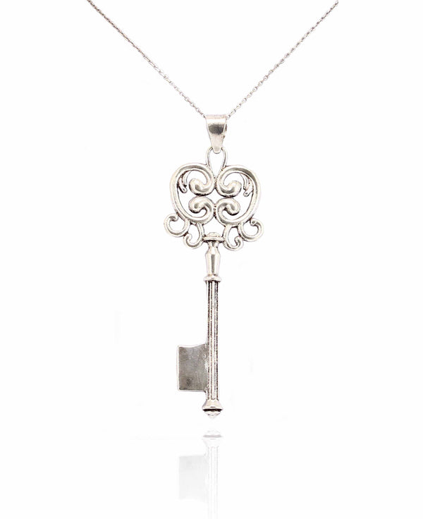 TAULA SILVER KEY PENDANT IN 925 STERLING SILVER - Taula Pte Ltd
