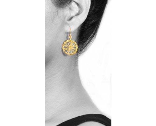 18K GOLD SPIN GOLD EARRINGS - Taula Pte Ltd