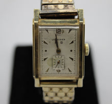 Load image into Gallery viewer, Vintage Longines 14K Gold Men's Wrist Watch - Stretch Band