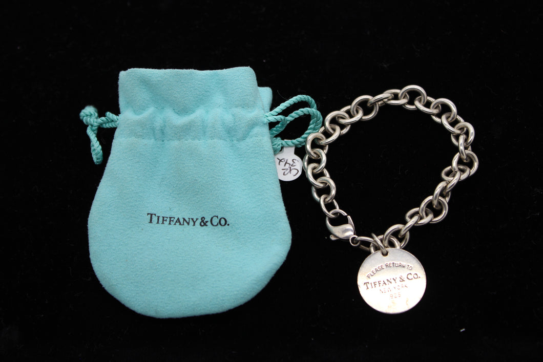 Sterling Silver Return To Tiffany Rolo Chain Link Charm Bracelet - 7.5