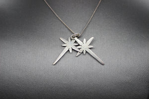 Religious Crosses Necklace Pendant, Box Link Chain, Sterling Silver 925 - 24""